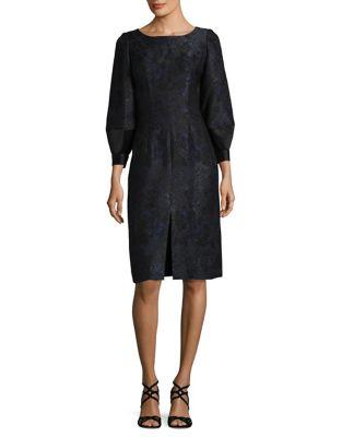 Bubble French Jacquard Knee-Length Dress by BARBARA TFANK INC.