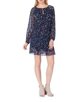 Petite Pleated Floral Dress by Tahari Arthur S. Levine