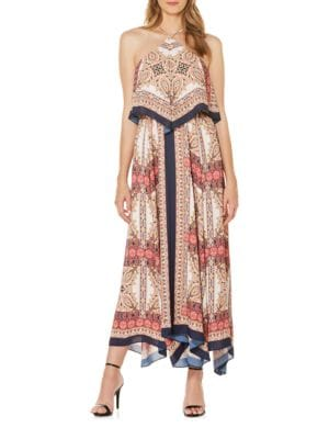 Printed A-Line Maxi Dress by Laundry by Shelli Segal