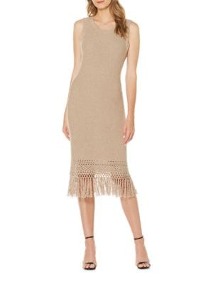 Knit Fringe Dress by Laundry by Shelli Segal