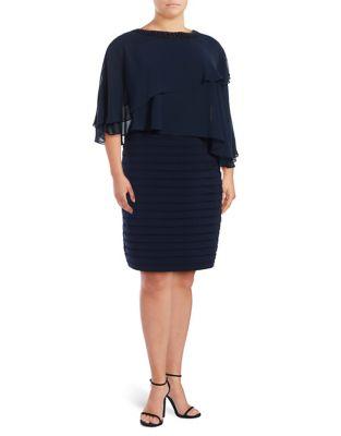 Formal Blouson Sheath Dress by Adrianna Papell