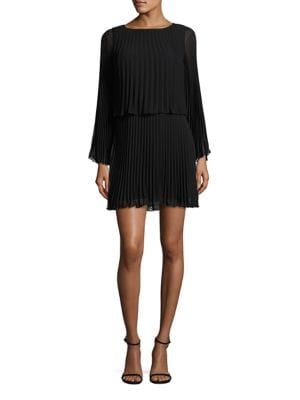 Pleated Blouson Dress by Laundry by Shelli Segal