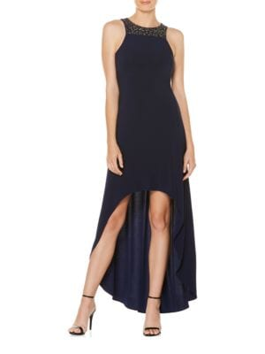 Photo of Embellished Hi-Lo Gown by Laundry by Shelli Segal - shop Laundry by Shelli Segal dresses sales