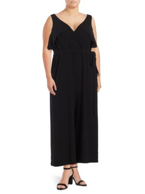 Plus Self-Tie Overlay Jumpsuit by Gabby Skye