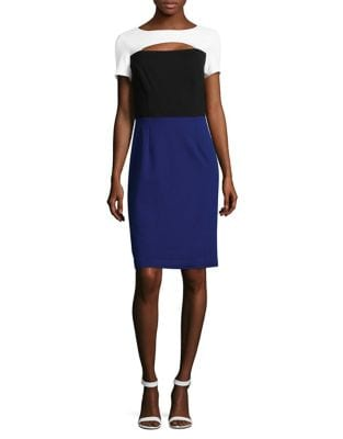 Colorblock Knit Dress by Nue By Shani