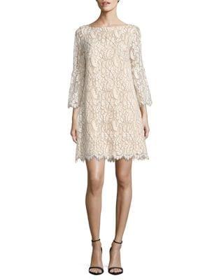 Lace Bell Sleeve Shift Dress by Eliza J