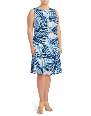 Plus Sleeveless A-Line Dress by Eliza J