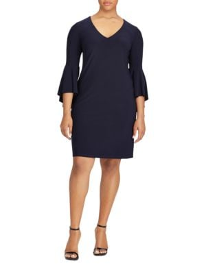 Flounce Sleeve Jersey Dress by Lauren Ralph Lauren