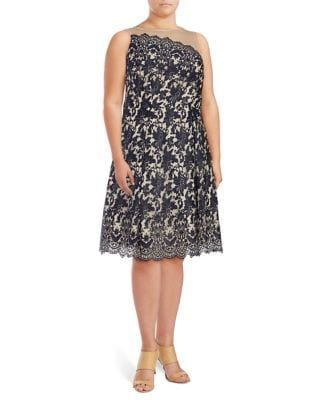 Plus Floral Fit-&-Flare Dress by City Chic