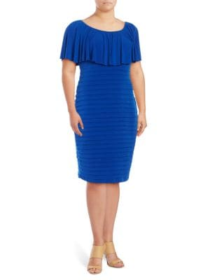 Plus Pleated Sheath Dress by Lauren Ralph Lauren