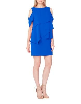 Plus Ruffled Cold Shoulder Dress by Tahari Arthur S. Levine
