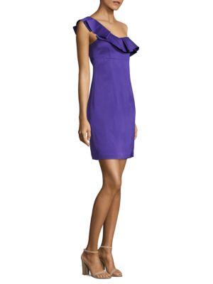 One-Shoulder Ruffled Dress by Trina Turk