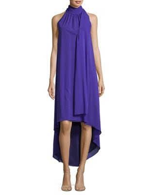 Sash Silk High-Low Dress by Trina Turk