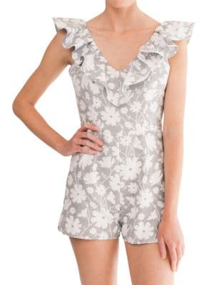 Floral Adalyn Romper by Paper Crown