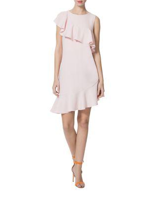 Ruffle Asymmetric Dress by Donna Morgan
