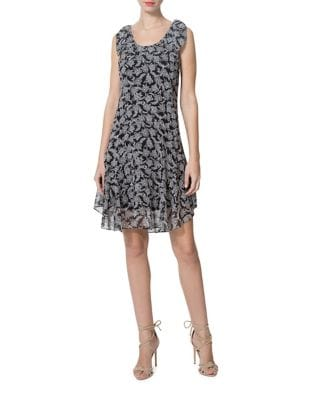 Tie Floral Dress by Donna Morgan