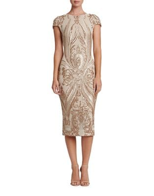 Brandi Sequined Midi Dress by Dress The Population