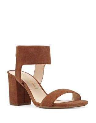 Green Isa Kid Suede Sandals by Nine West