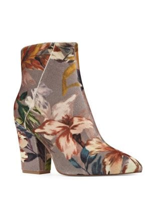 Savitra Angelic Floral Embroidered Ankle Boots by Nine West