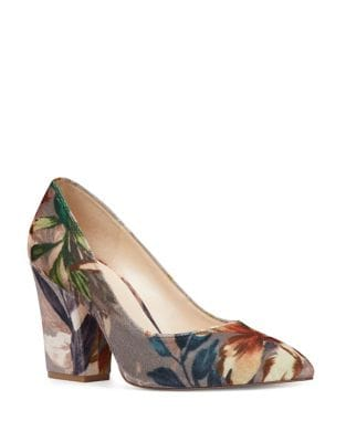 Scheila Angelic Floral-Print Pumps by Nine West