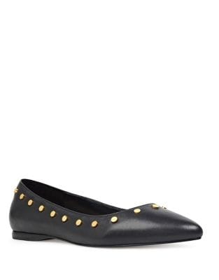Sigismonda Studded Leather Flats by Nine West