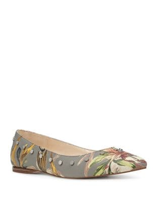 Sigismonda Floral-Print Flats by Nine West