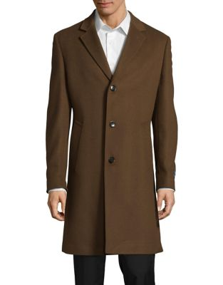 Vicuna Button Front Topcoat...