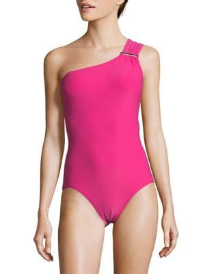 One Shoulder One-Piece Swimsuit by Michael Kors