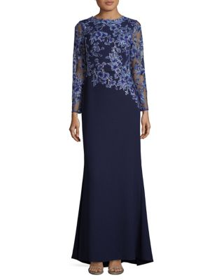 Fit & Flare Lace Gown by Tadashi Shoji