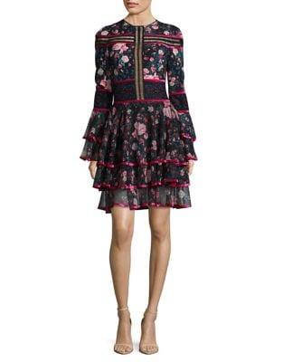 Tier Bell Knee-Length Dress by Tadashi Shoji