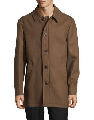 Wool-Blend Coat @...