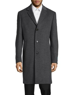Luther Button Front Topcoat...