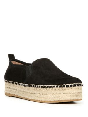 Carrin Leather Platform Espadrilles by Sam Edelman