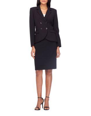Button-Front Jacket and Pencil Skirt Suit Set by Tahari Arthur S. Levine