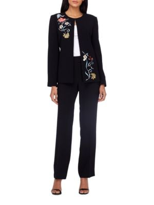 Two-Piece Crepe Jacket and Pants by Tahari Arthur S. Levine