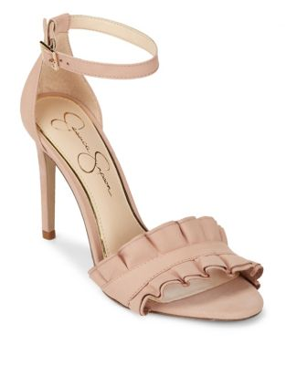 Silea Leather Ankle-Strap Sandals by Jessica Simpson