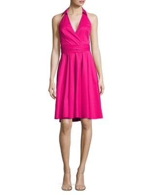 Wrap Halter Dress by Badgley Mischka Platinum