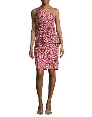 Floral Peplum Style Dress by Badgley Mischka Platinum