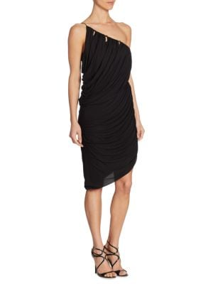 One-Shoulder Drape Dress by Halston Heritage