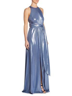 Metallic Sleeveless Gown by Halston Heritage