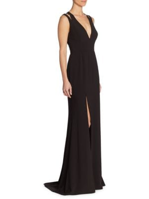 Elegant Cutout Gown by Halston Heritage