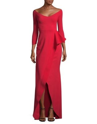 Tonal Stitched Floor-Length Gown by Chiara Boni La Petite Robe