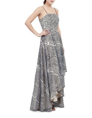 Geometrical Hi-Lo Gown by Nicole Miller