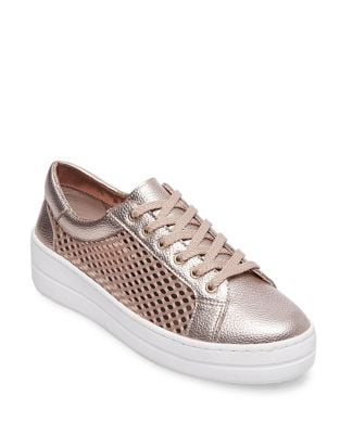 Nyssa Leather Sneakers by Steven by Steve Madden