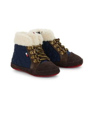 Baby Boys Sherpa Accented Sneakers