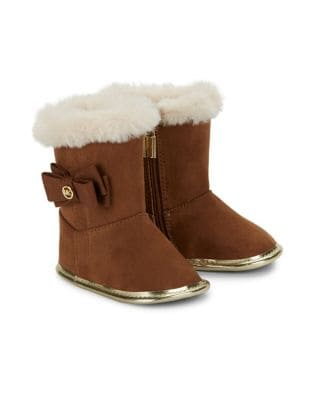 Baby Girls Faux Fur Trimmed Boots