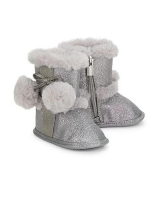 Baby Girls Faux Fur Accented Boots