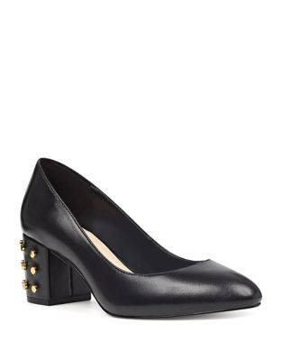 Cerys Leather Slip-On Pumps by Nine West