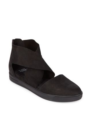 Photo of Carver Criss-Cross Suede Flats by Eileen Fisher - shop Eileen Fisher shoes sales