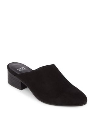 Sylvia Suede Mules by Eileen Fisher